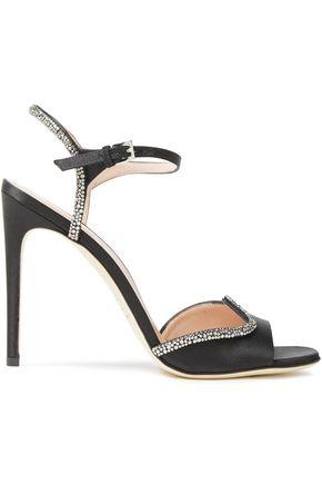 ALBERTA FERRETTI Crystal-embellished satin sandals