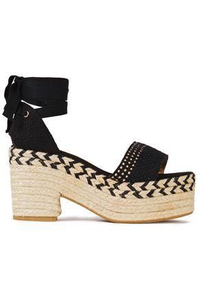 CASTAÑER Woven cotton platform espadrille sandals