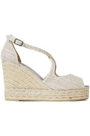 CASTAÑER Cotton-canvas wedge espadrille sandals