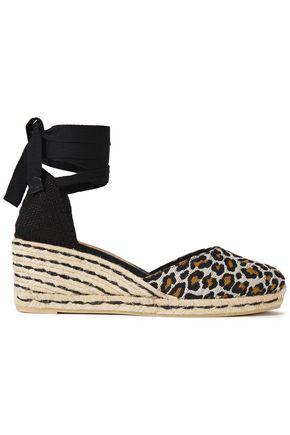 CASTAÑER حذاء إسبادريل ويدج من الجاكار بنقش جلد الفهد المصنوع من مزيج القطن