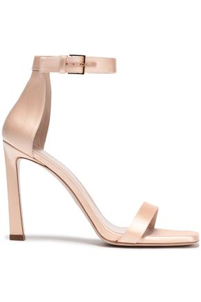 STUART WEITZMAN Cutout satin sandals