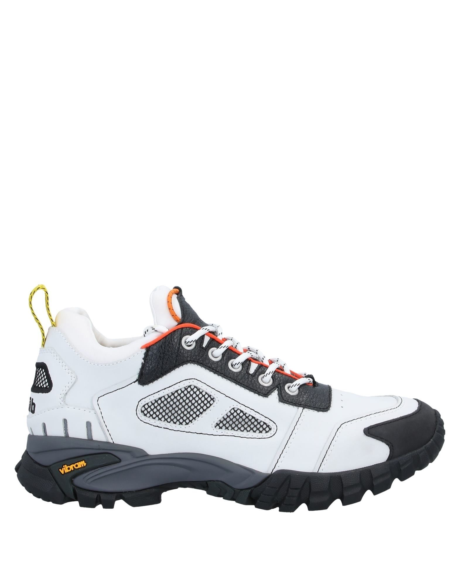 HERON PRESTON Sneakers. leather, logo, two-tone, laces, round toeline, flat, fabric inner, rubber sole, contains non-textile parts of animal origin. Soft Leather, Textile fibers