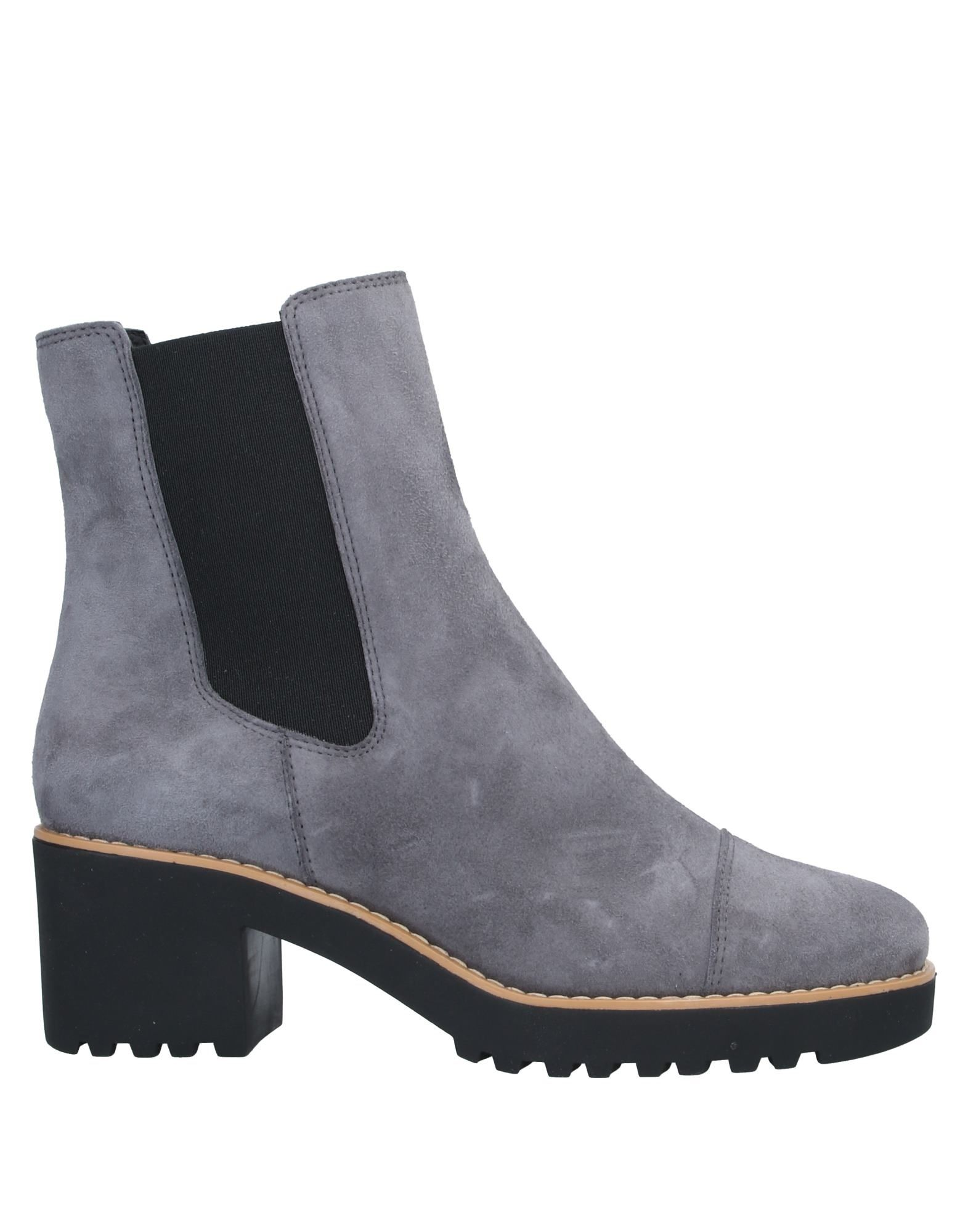 HOGAN Ankle boots. suede effect, no appliqués, solid color, elasticized gores, round toeline, square heel, leather lining, rubber sole, contains non-textile parts of animal origin. Soft Leather