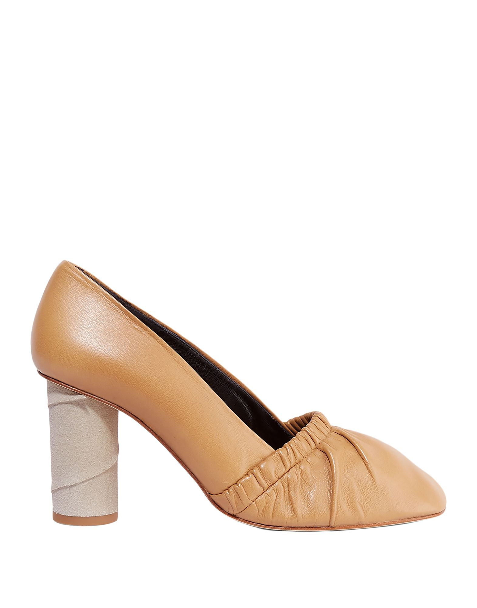 LOEWE Pumps. suede effect, no appliqués, solid color, square toeline, geometric heel, leather lining, leather sole, contains non-textile parts of animal origin. Soft Leather
