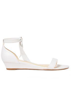 ALEXANDRE BIRMAN Leather wedge sandals