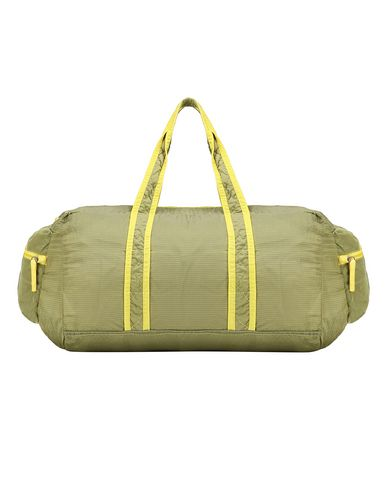 STONE ISLAND 91035 NYLON METAL WATRO RIPSTOP_PACKABLE Travel & duffel bag Man Lemon EUR 180
