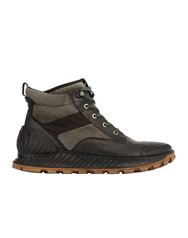 STONE ISLAND S0796 GARMENT DYED LEATHER EXOSTRIKE BOOT WITH DYNEEMA® SHOE Man Olive Green EUR 410