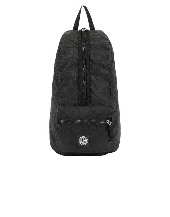 STONE ISLAND 90935 NYLON METAL WATRO RIPSTOP_PACKABLE Backpack Man Black