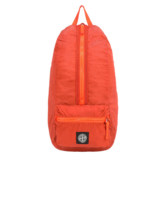 STONE ISLAND 90935 NYLON METAL WATRO RIPSTOP_PACKABLE Rucksack Herr Helle Orange