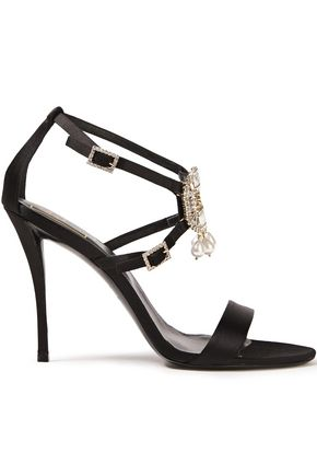 ROGER VIVIER Embellished satin sandals