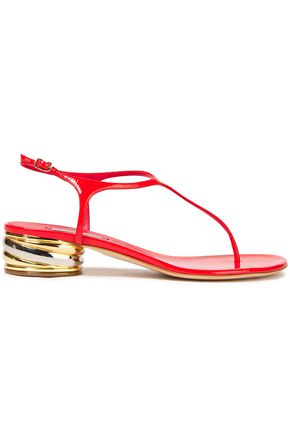 CASADEI Glossed-leather sandals