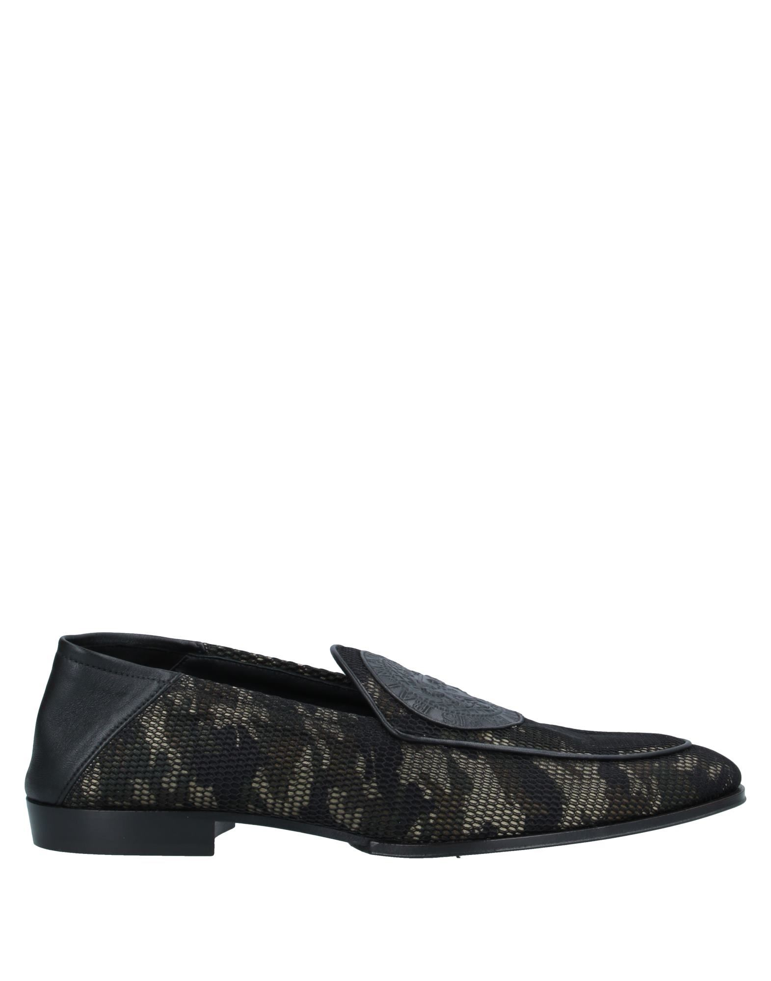 BALMAIN Loafers. contrasting applications, logo, camouflage, round toeline, flat, leather lining, leather sole, contains non-textile parts of animal origin, small sized. Textile fibers