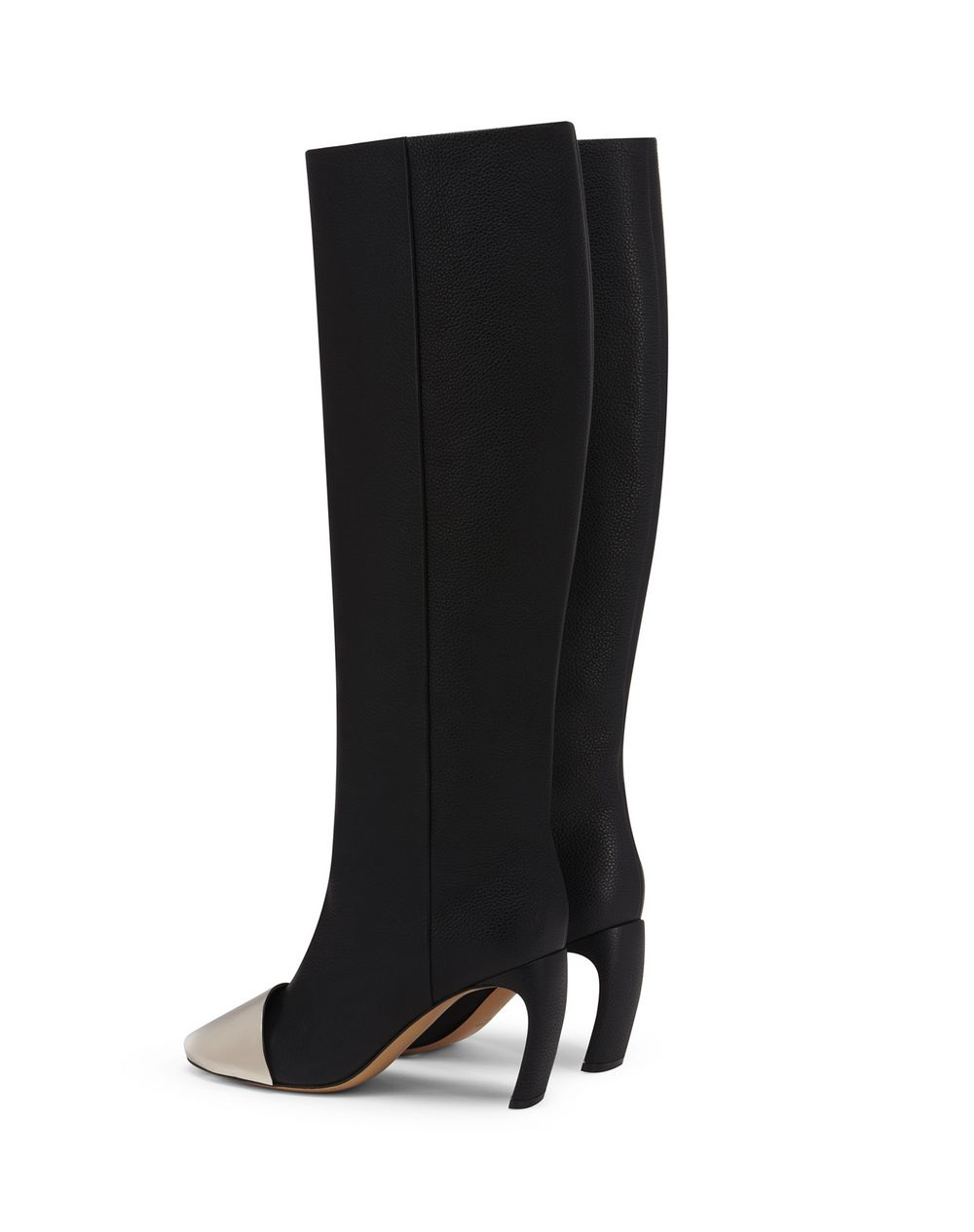 J BOOTS IN GRAINED LEATHER WITH METALLIC TOE - Lanvin