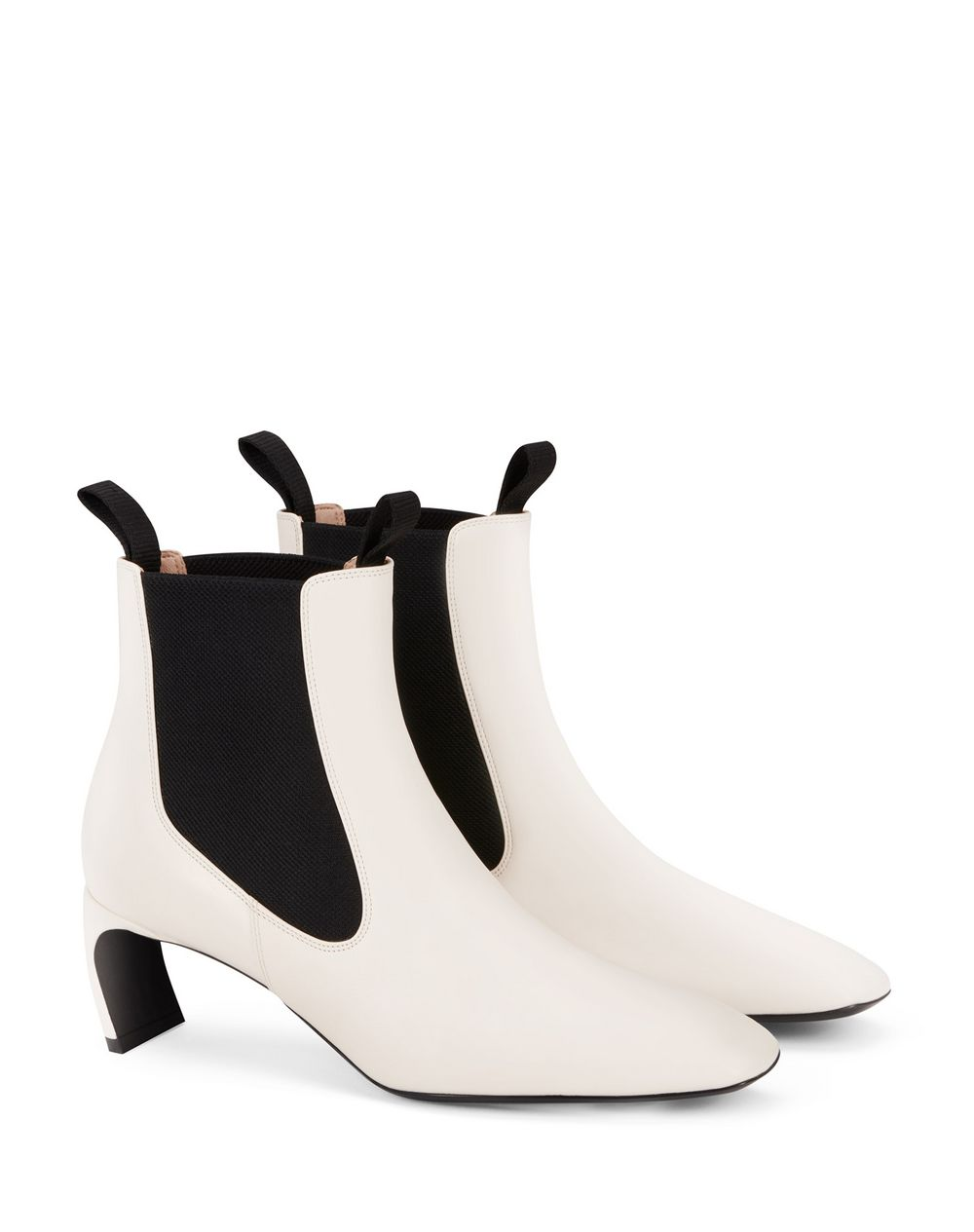 LEATHER J ANKLE BOOTS - Lanvin