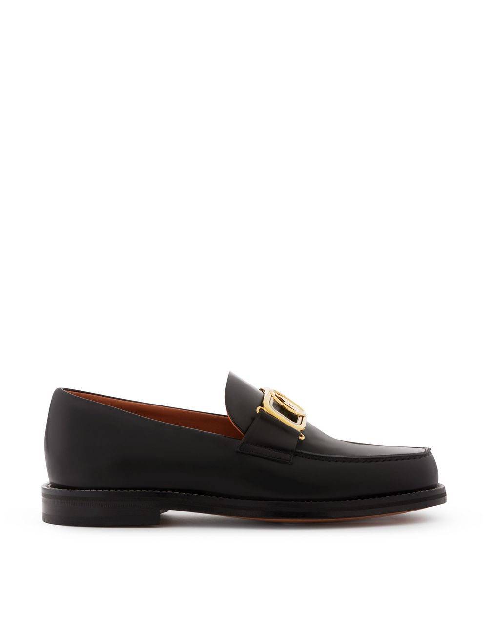 SWAN LOAFERS IN BRUSHED LEATHER - Lanvin