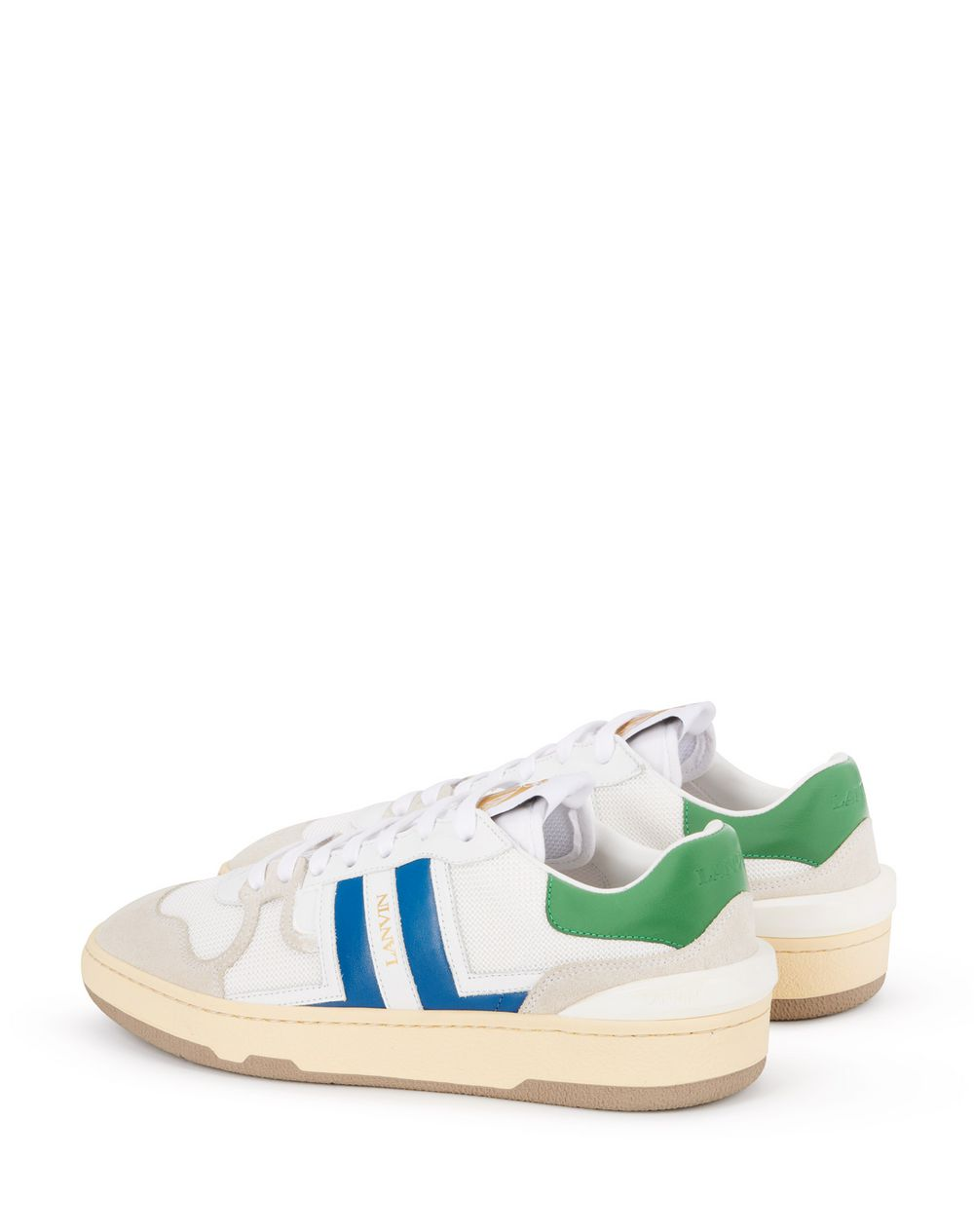 LEATHER CLAY LOW-TOP SNEAKERS - Lanvin
