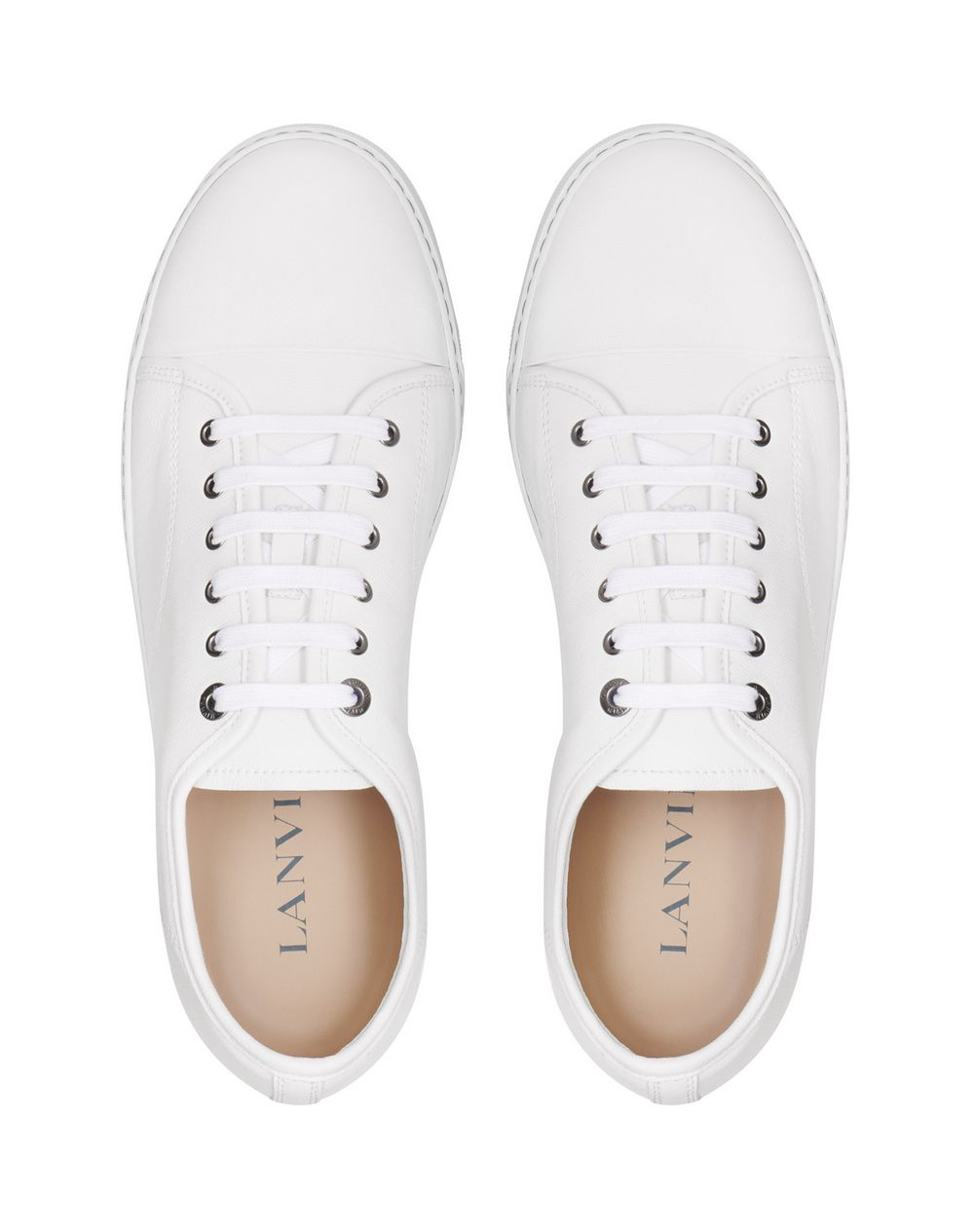 DDB1 GRAINED LEATHER TRAINERS - Lanvin
