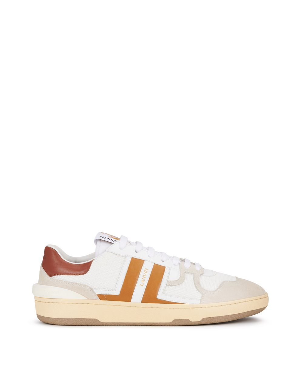 LEATHER CLAY LOW-TOP TRAINERS - Lanvin
