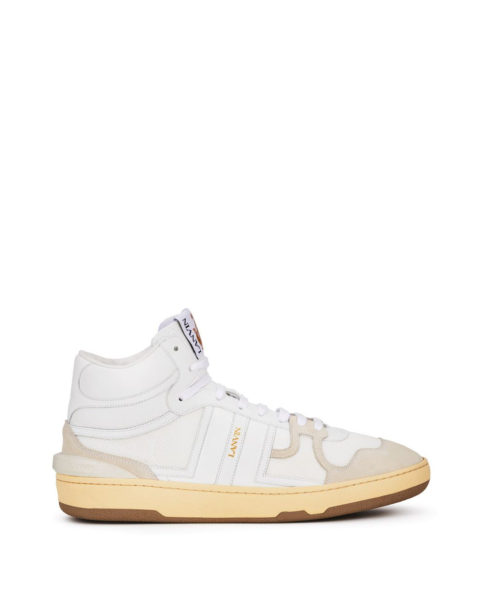 LEATHER CLAY HIGH-TOP SNEAKERS - Lanvin