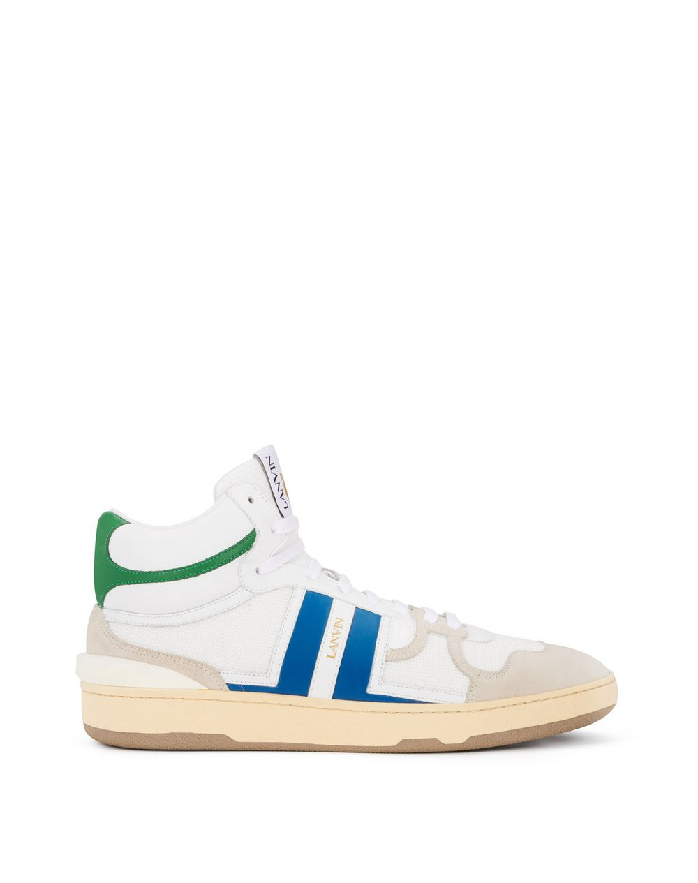 LEATHER CLAY HIGH-TOP TRAINERS - Lanvin