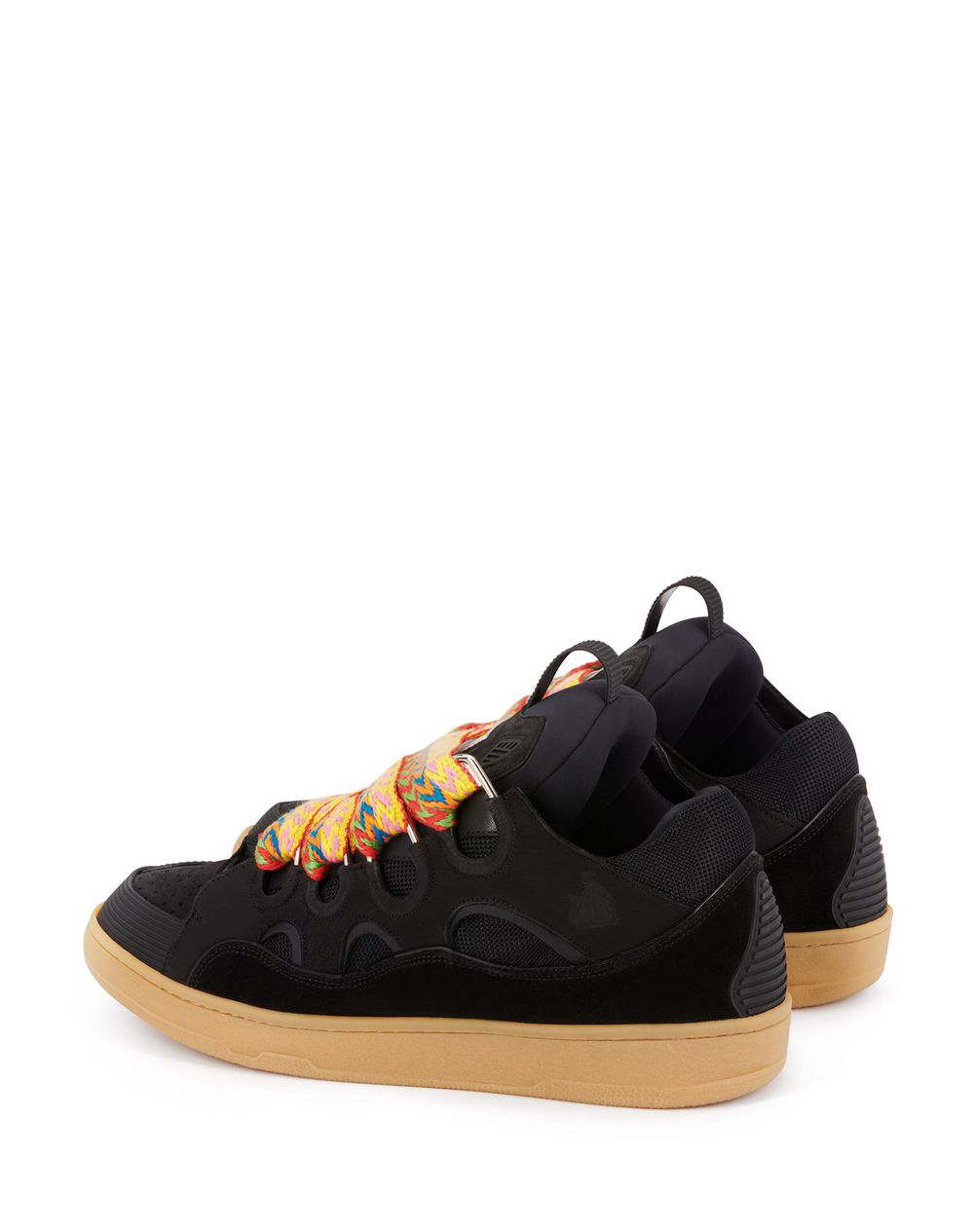 LEATHER CURB SNEAKERS - Lanvin