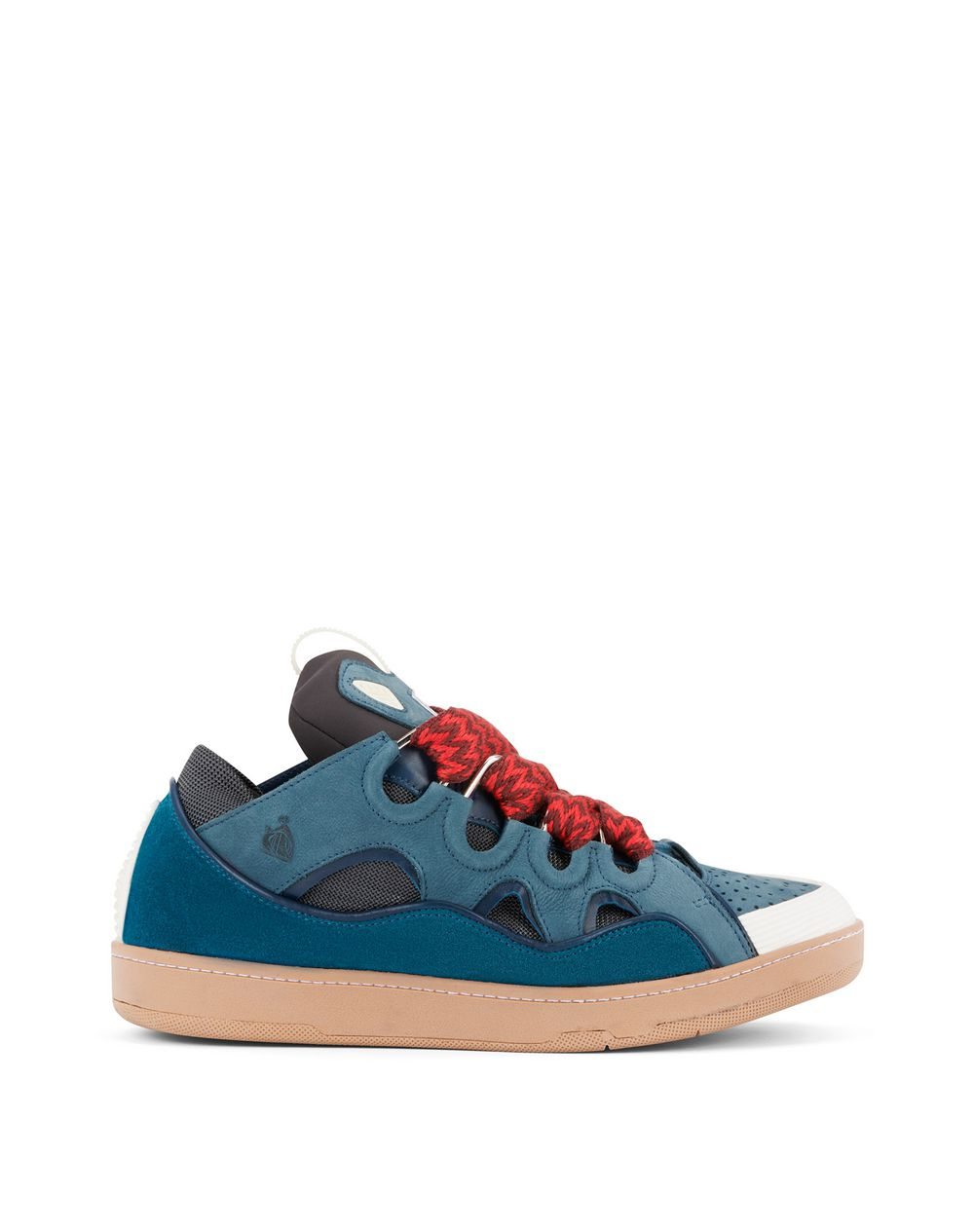 LEATHER CURB TRAINERS - Lanvin