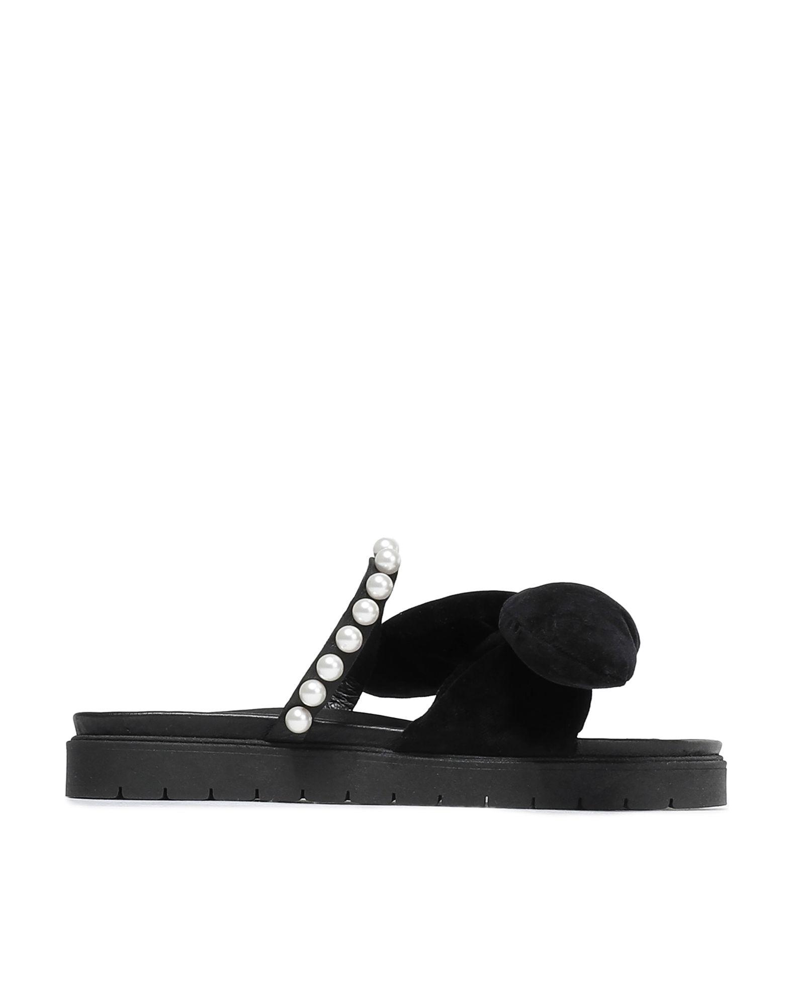 《セール開催中》MOTHER OF PEARL レディース サンダル ブラック 38 革 / 紡績繊維