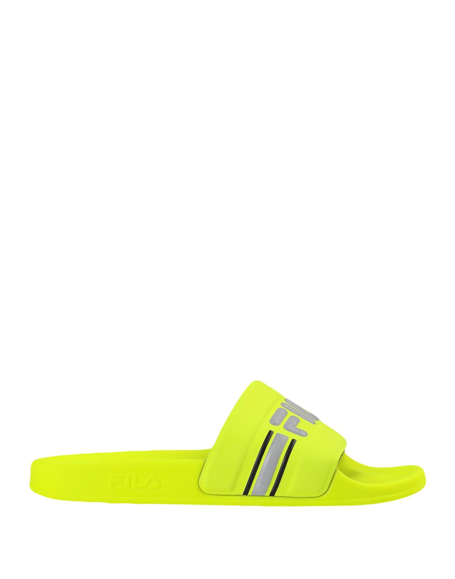 《セール開催中》FILA レディース サンダル ビタミングリーン 38 紡績繊維 Oceano Neon Slipper