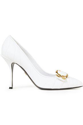 DOLCE & GABBANA حذاء بمب من الجلد السميك مزيّن بإبزيم
