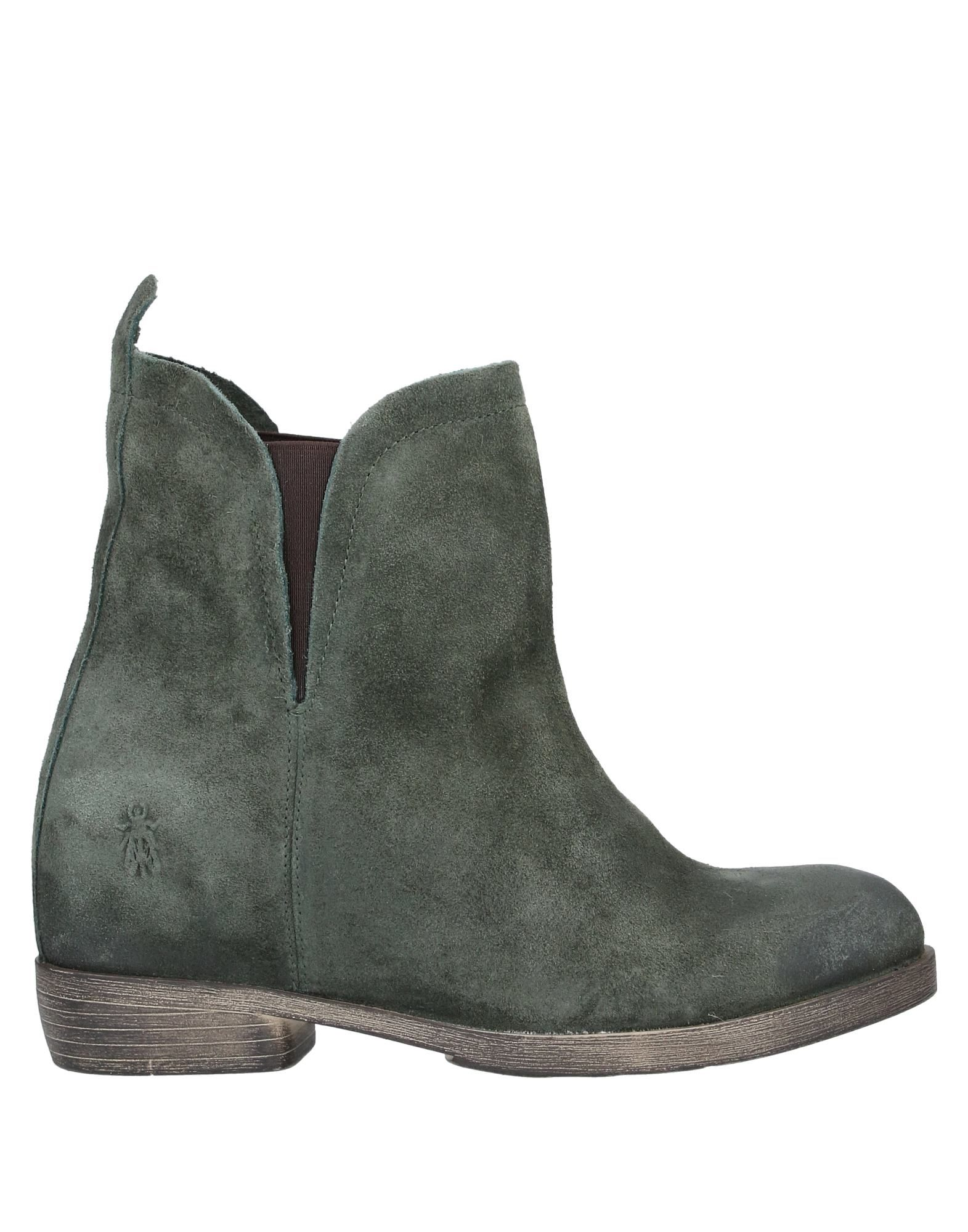 FLY LONDON Ankle boots. suede effect, logo, solid color, elasticized gores, round toeline, square heel, leather lining, rubber sole, contains non-textile parts of animal origin. Soft Leather