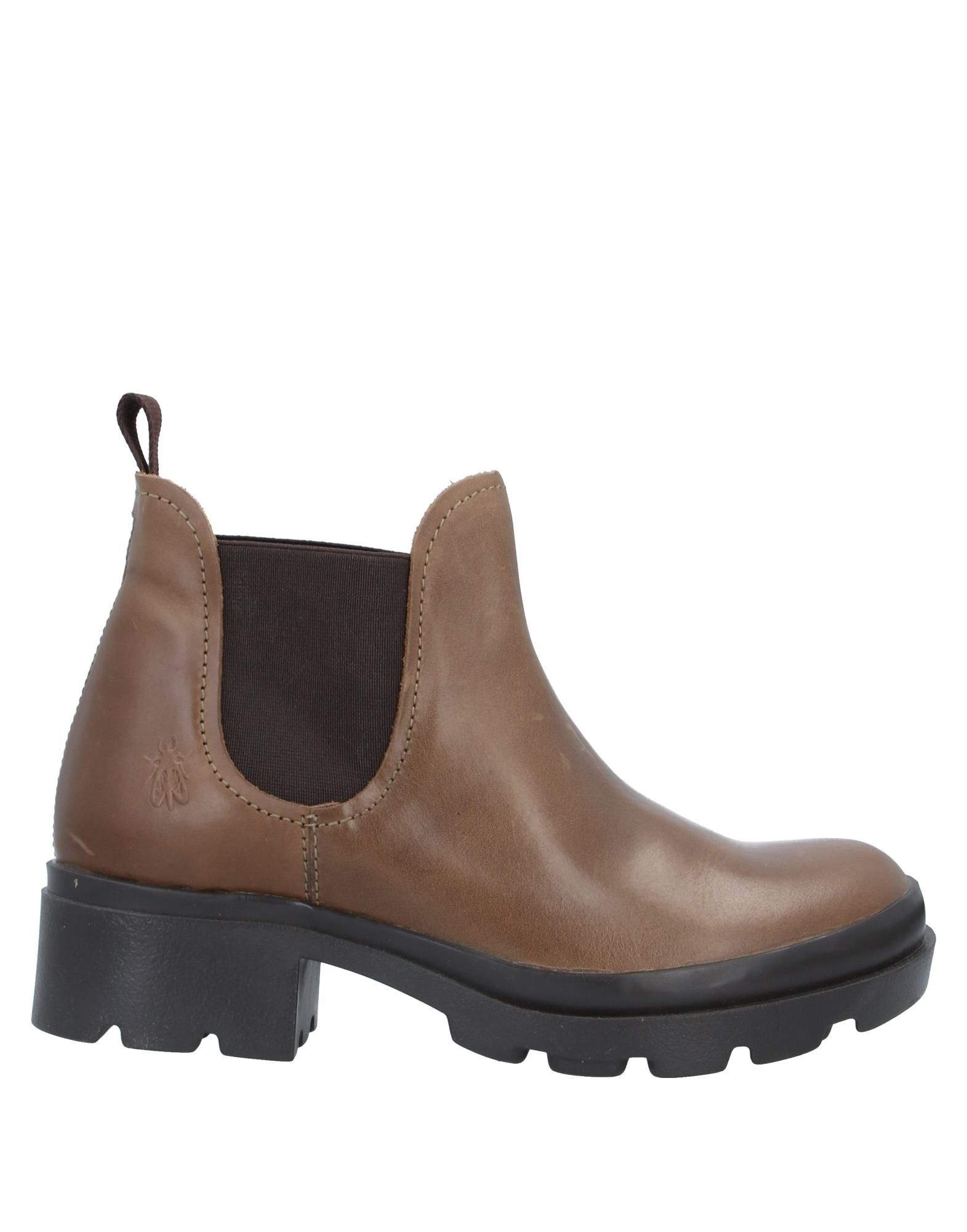 FLY LONDON Ankle boots. leather, no appliqués, solid color, elasticized gores, round toeline, square heel, fabric inner, rubber sole, contains non-textile parts of animal origin. Soft Leather