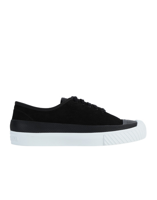 STONE ISLAND S0165 SUEDE DECK SHOE Man Black