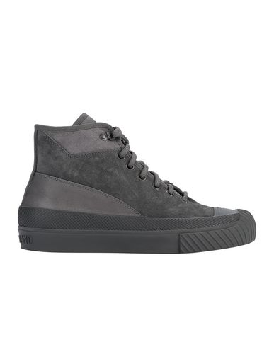 STONE ISLAND S02F6 SUEDE MID_GHOST PIECE SHOE Man Dark Grey EUR 293
