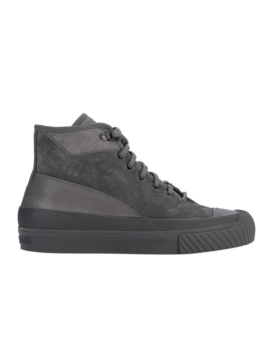 STONE ISLAND S02F6 SUEDE MID_ GHOST PIECE SHOE Man Dark Grey