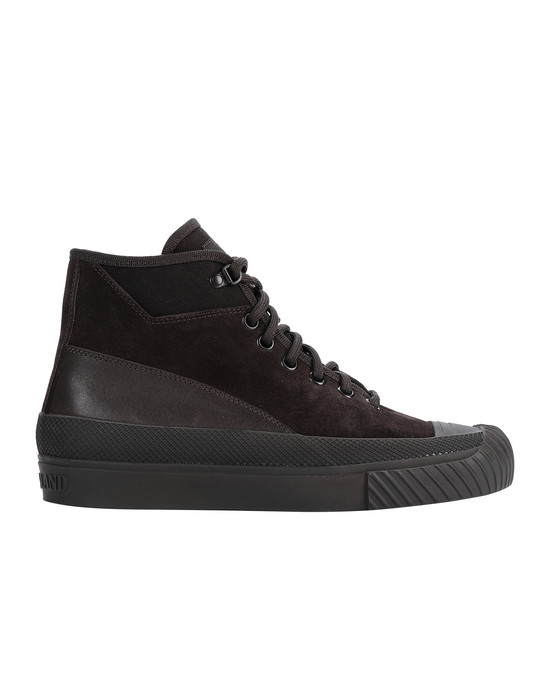 STONE ISLAND S02F6 SUEDE MID_ GHOST PIECE SHOE Man Dark Brown