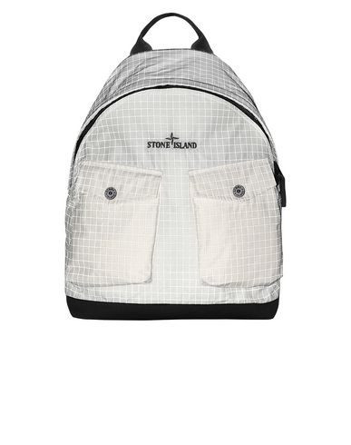 STONE ISLAND 91398 REFLECTIVE RIPSTOP CHINÉ Backpack Man Butter USD 315