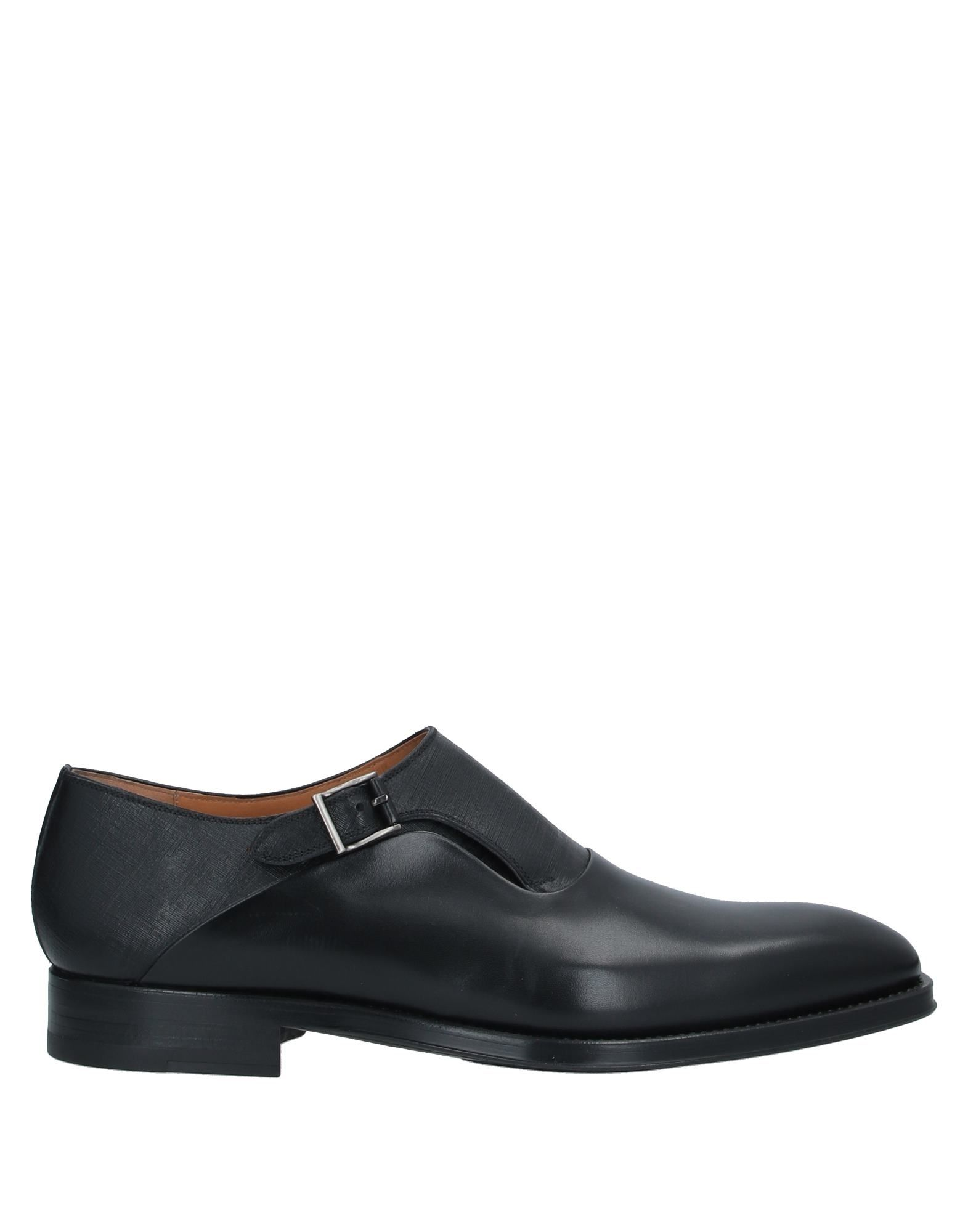 MAGNANNI Loafers. leather, printed leather, buckle, solid color, round toeline, square heel, leather lining, rubber sole, contains non-textile parts of animal origin. Soft Leather
