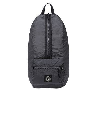 STONE ISLAND 90935 NYLON METAL WATRO RIPSTOP_PACKABLE Rucksack Man Blue Grey EUR 199