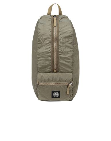 STONE ISLAND 90935 NYLON METAL WATRO RIPSTOP_PACKABLE Backpack Man Dark Beige USD 136