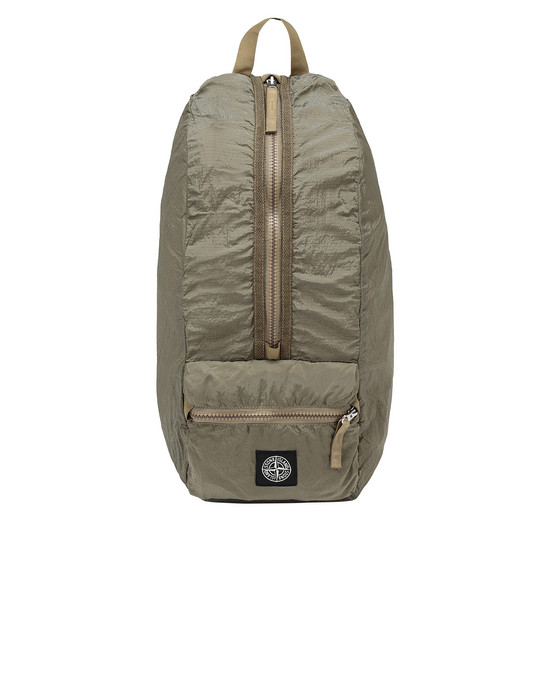 STONE ISLAND 90935 NYLON METAL WATRO RIPSTOP_PACKABLE 백팩 남성 다크 베이지