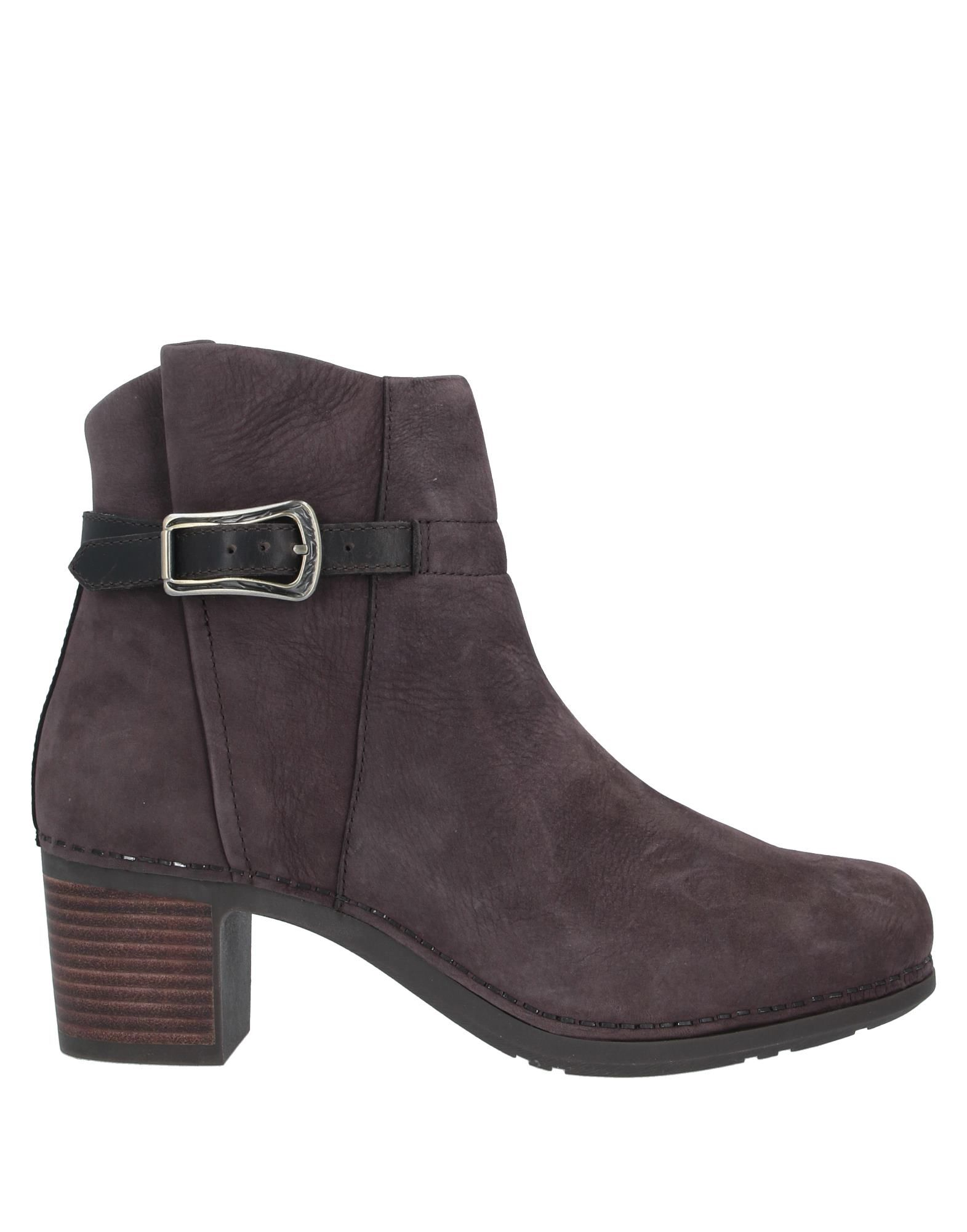 DANSKO Ankle boots. leather, nubuck, buckle, solid color, zipper closure, round toeline, square heel, fabric inner, rubber sole, contains non-textile parts of animal origin. Soft Leather