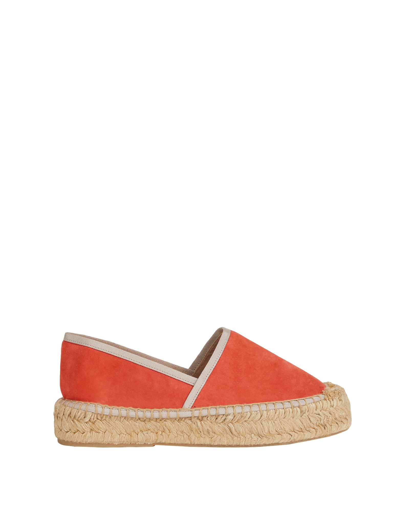 FURLA Espadrilles. nubuck, no appliqués, solid color, round toeline, flatform, fully lined, rubber sole, contains non-textile parts of animal origin. 70% Soft Leather, 20% Jute, 10% Polyester