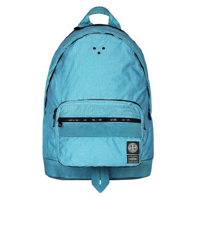 STONE ISLAND 917P1 STONE ISLAND/PORTER®<br>REFLECTIVE WEAVE RIPSTOP-TC Backpack Man Aqua EUR 639