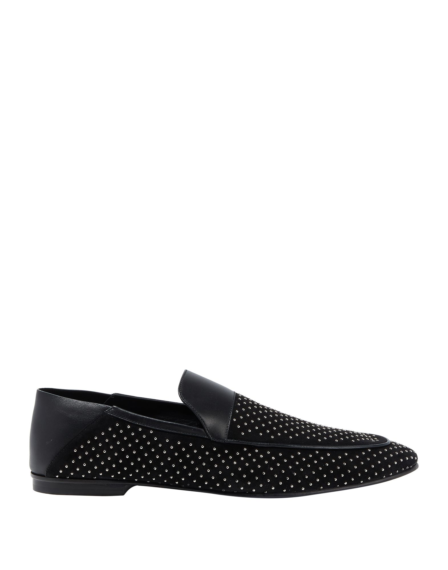 BALMAIN Loafers. studs, solid color, round toeline, leather lining, leather sole, flat, contains non-textile parts of animal origin, small sized. Calfskin