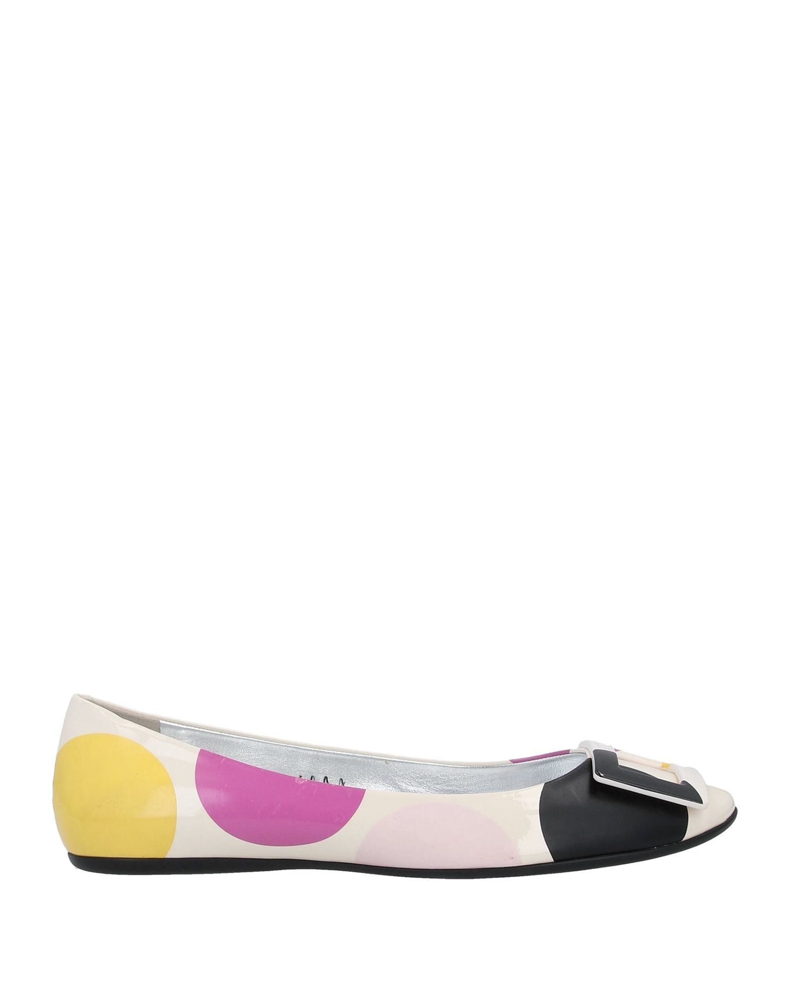 ROGER VIVIER Ballet flats. logo, polka-dot, round toeline, flat, rubber sole, leather lining, contains non-textile parts of animal origin. Soft Leather