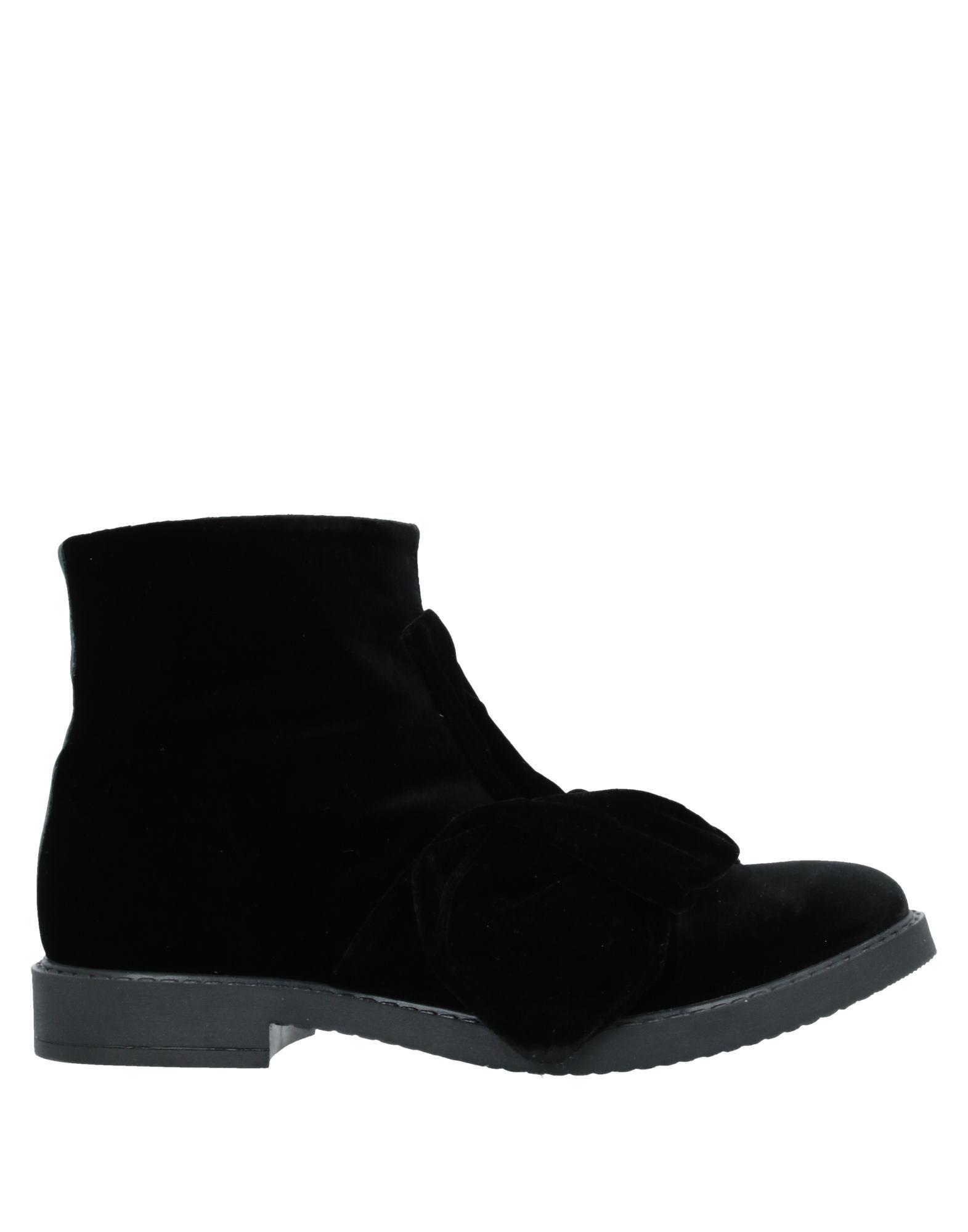 《セール開催中》FLORENS レディース ショートブーツ ブラック 40 紡績繊維