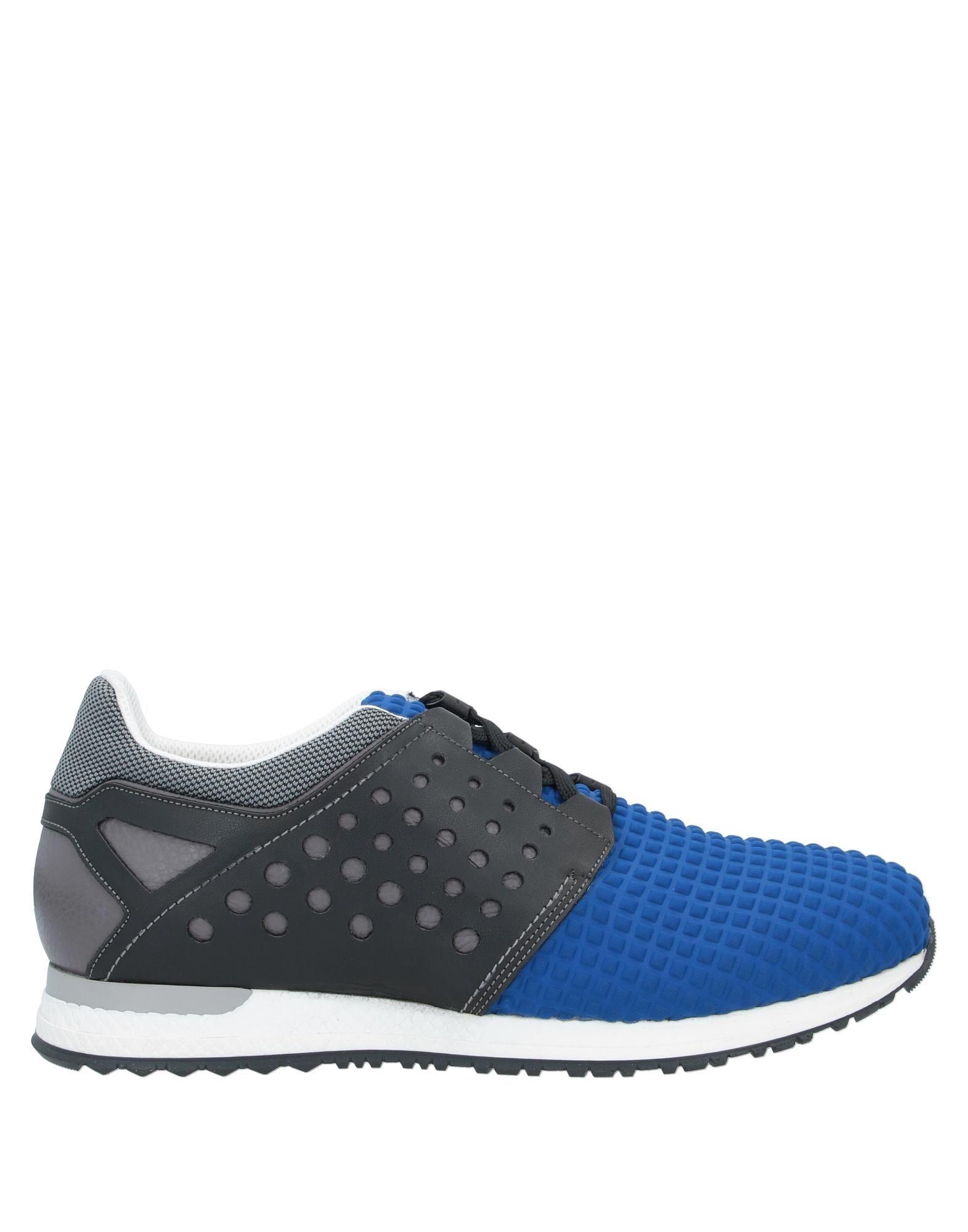 《セール開催中》ENRICO FANTINI CHANGE! メンズ スニーカー&テニスシューズ(ローカット) ブルー 44 紡績繊維 / 革