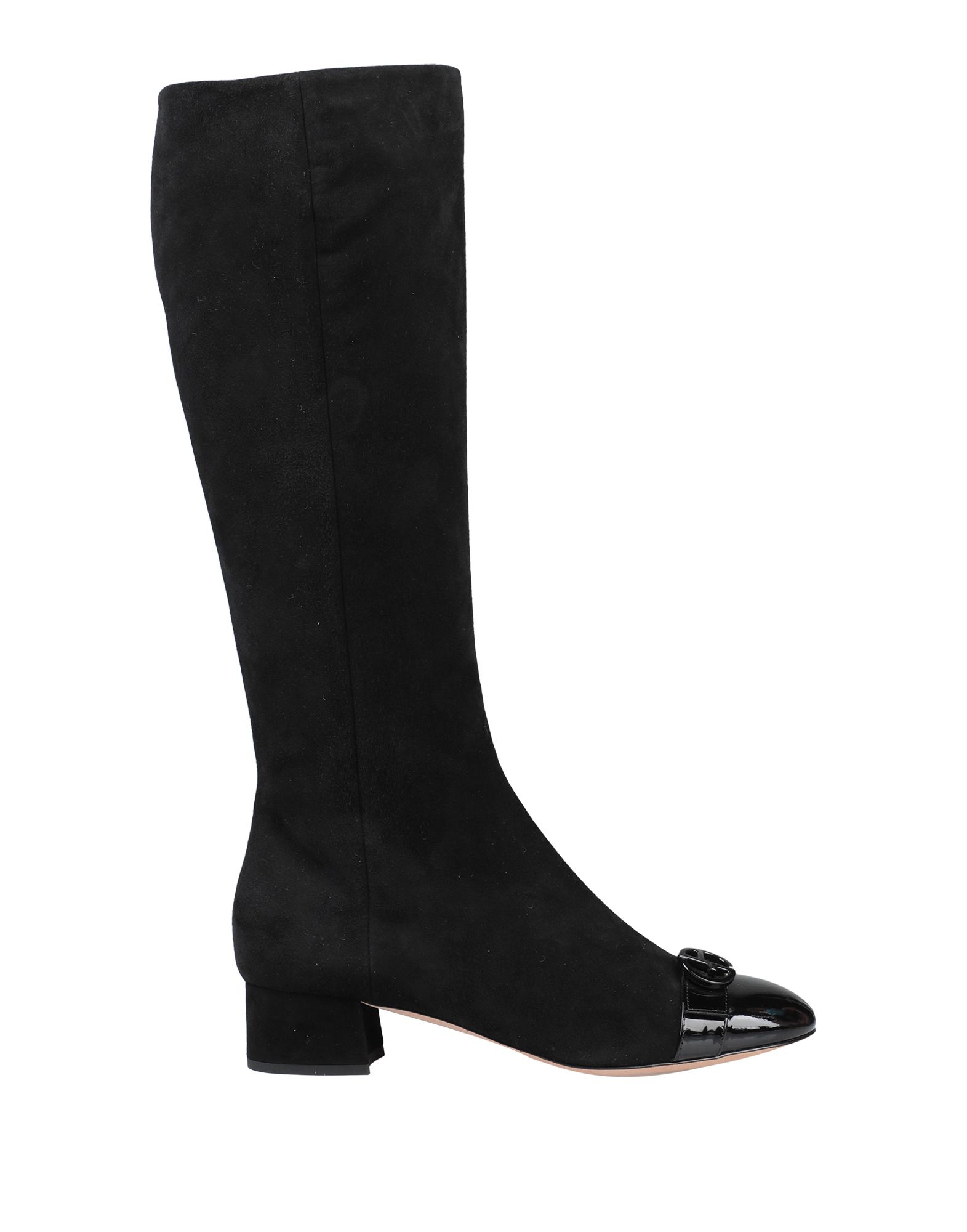 GIORGIO ARMANI Boots. suede effect, no appliqués, solid color, round toeline, square heel, covered heel, leather lining, leather sole, contains non-textile parts of animal origin. Soft Leather
