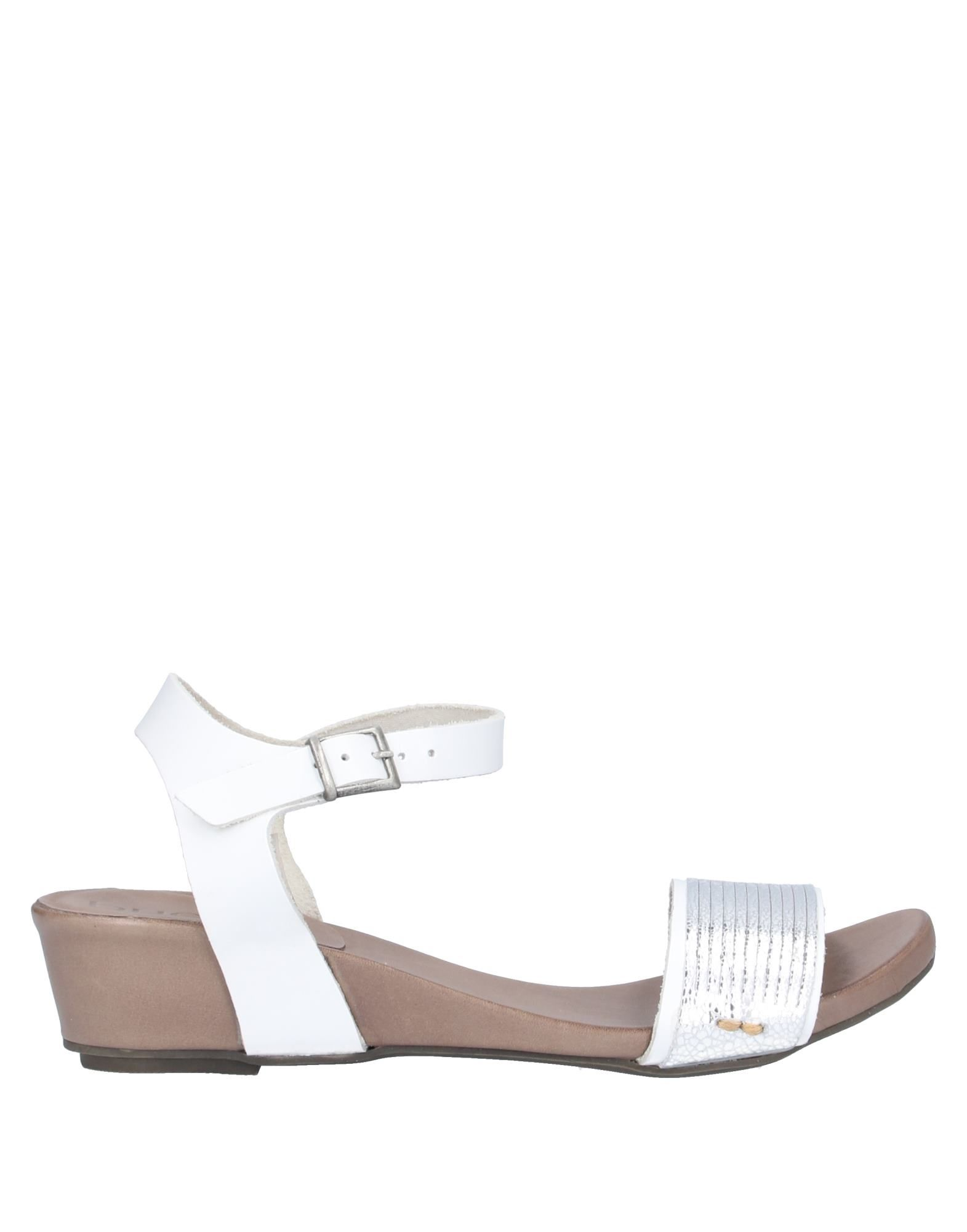 BUENO Sandals. leather, laminated effect, no appliqués, two-tone, buckle fastening, round toeline, wedge heel, leather lining, rubber sole, contains non-textile parts of animal origin. Soft Leather