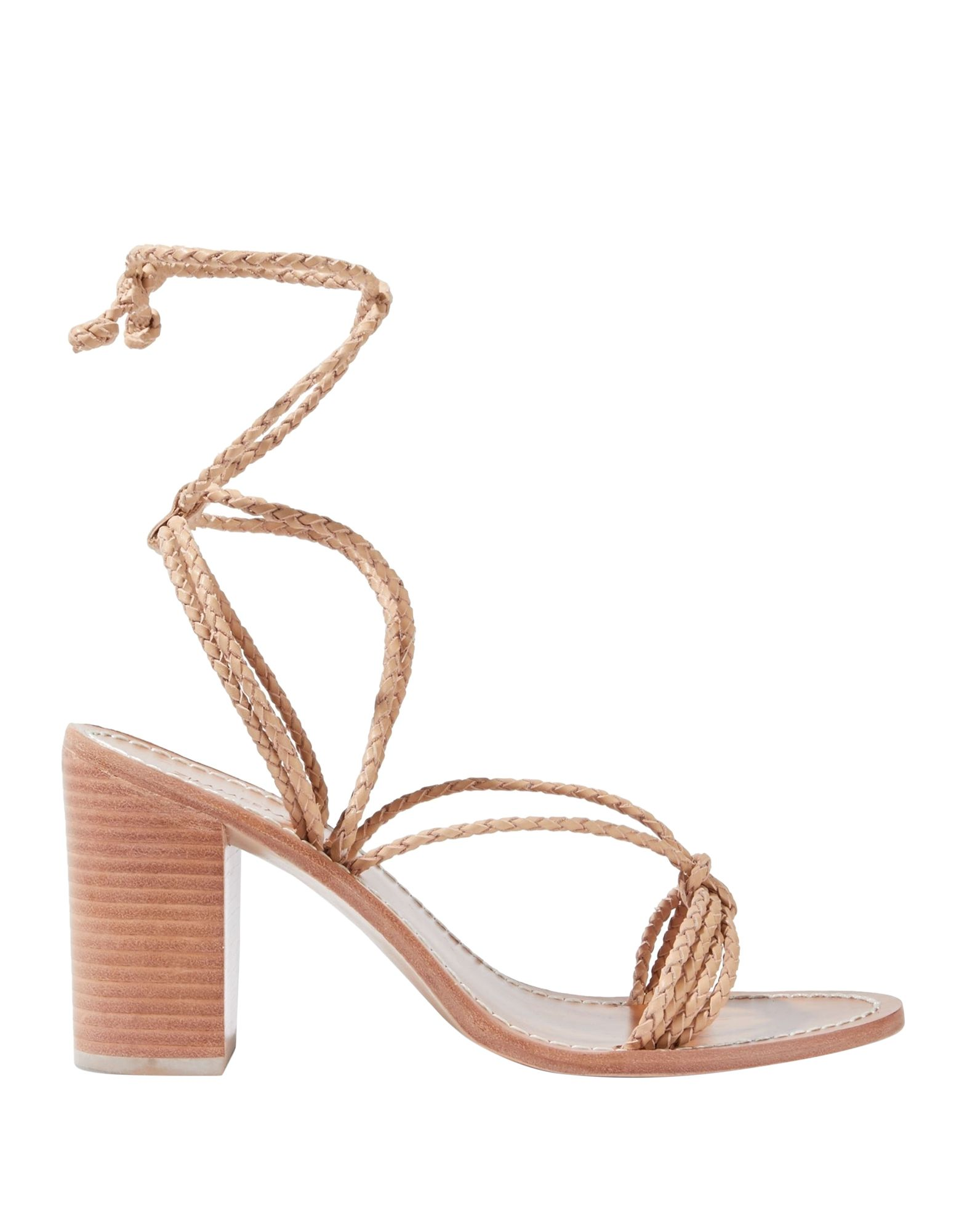ZIMMERMANN Sandals. no appliqués, solid color, laces, round toeline, square heel, leather lining, leather sole, contains non-textile parts of animal origin. Soft Leather
